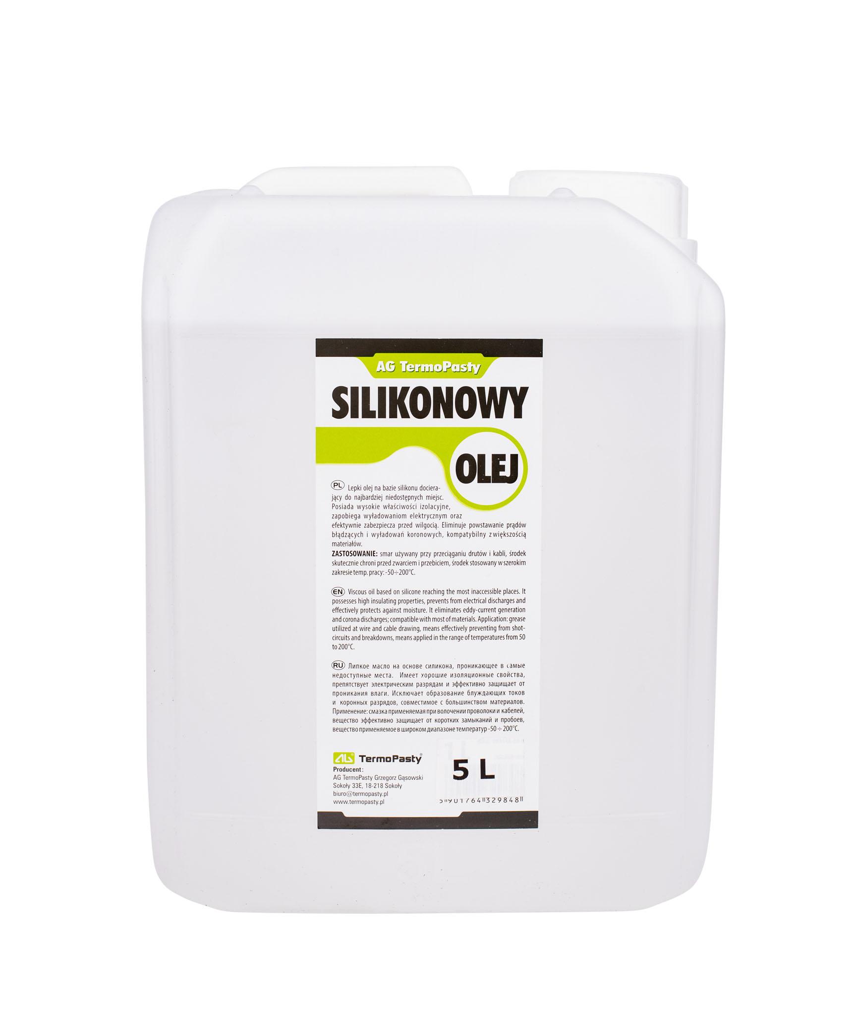 Lepki olej silikonowy