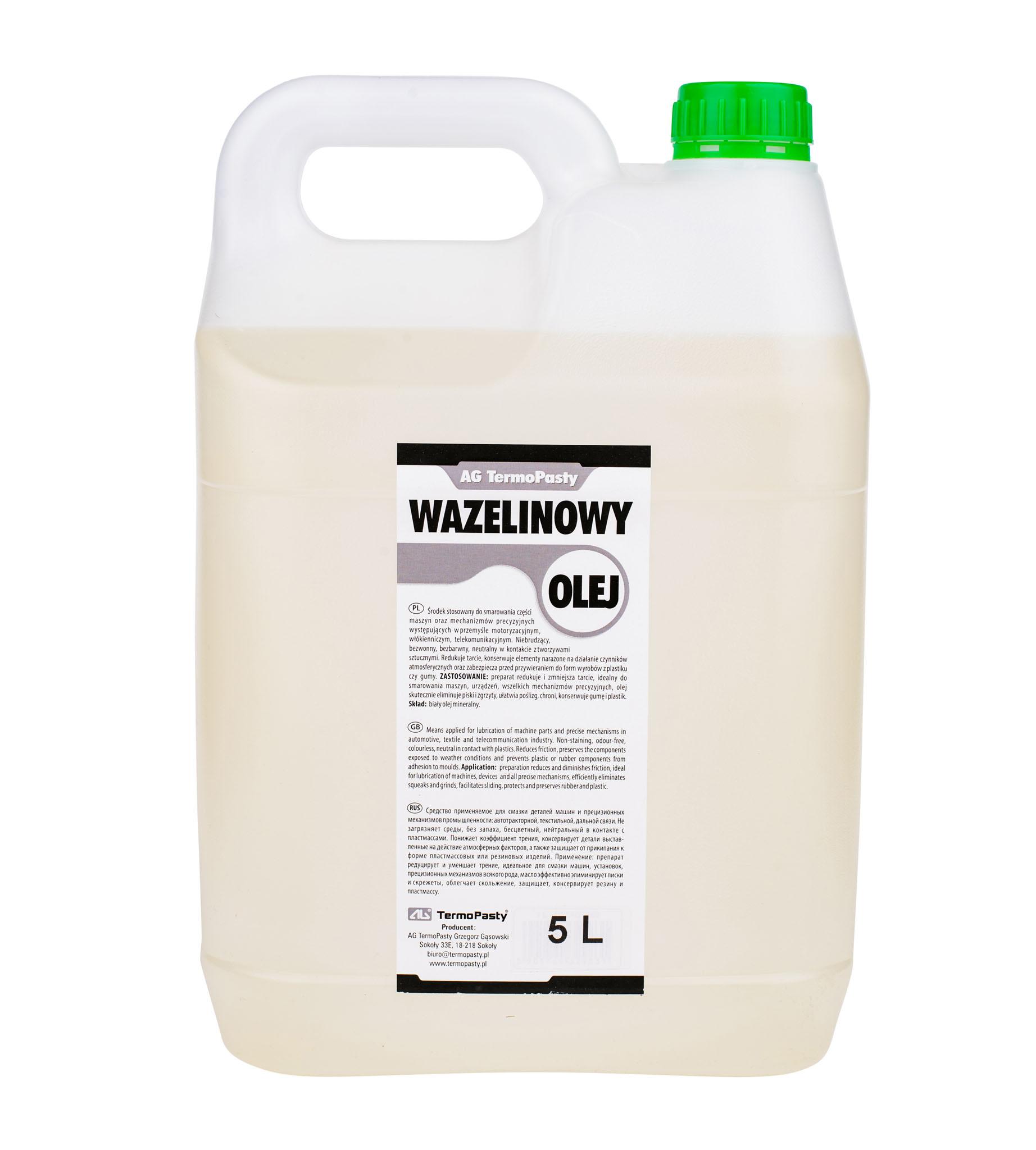 Olej wazelinowy do smarowania